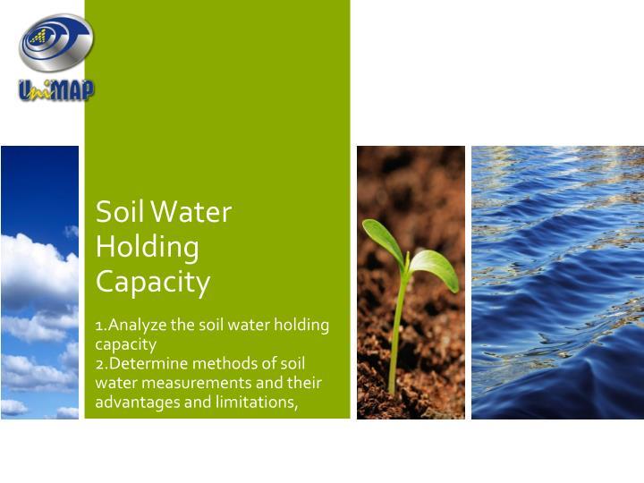 Soil Water Holding