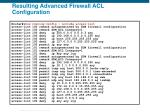 resulting advanced firewall acl configuration