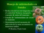 manejo de enfermedades en frutales