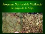 programa nacional de vigilancia de roya de la soja