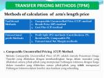 transfer pricing methods tpm