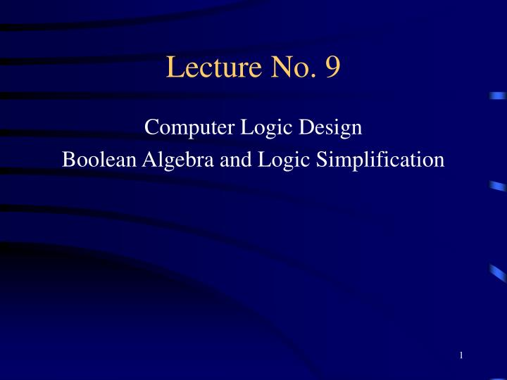 lecture no 9 n.