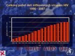 celkov po et det infikovan ch v rusom hiv 1990 2007