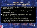 denne r 2007 viac ne 7400 nov ch infekci hiv