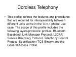 cordless telephony