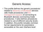 generic access