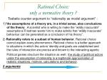 rational choice only a normative theory1