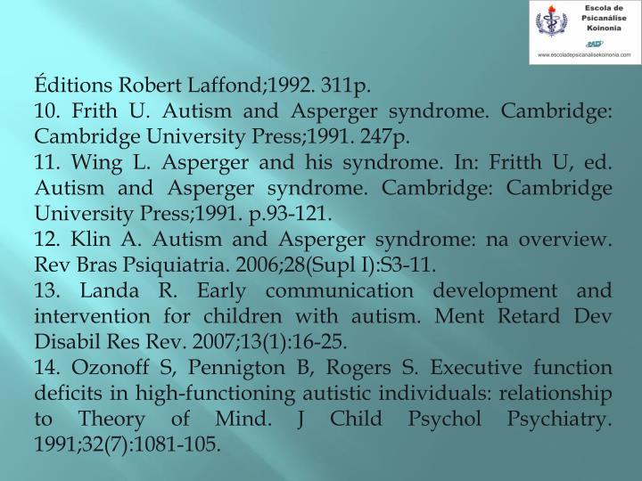 Éditions Robert Laffond;1992. 311p.
