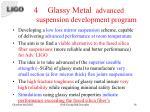 glassy metal advanced suspension development program