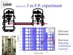 tama sas 3 m f p experiment