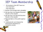iep team membership