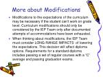 more about modifications