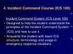4 incident command course ics 100