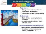 implement strategic plan
