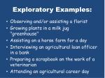 exploratory examples