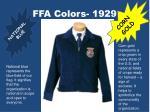 ffa colors 1929