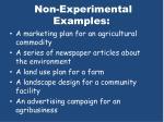 non experimental examples