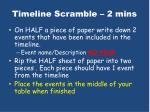 timeline scramble 2 mins