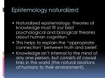 epistemology naturalized