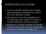 mathematics as a model