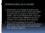 mathematics as a model1