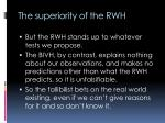 the superiority of the rwh