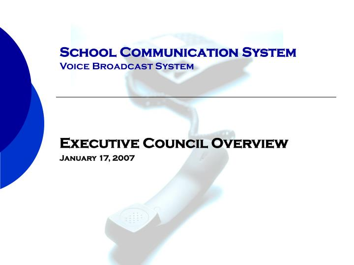 school communication system voice broadcast system n.
