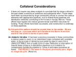 collateral considerations