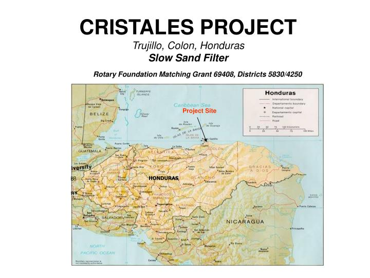 cristales project trujillo colon honduras slow sand filter n.