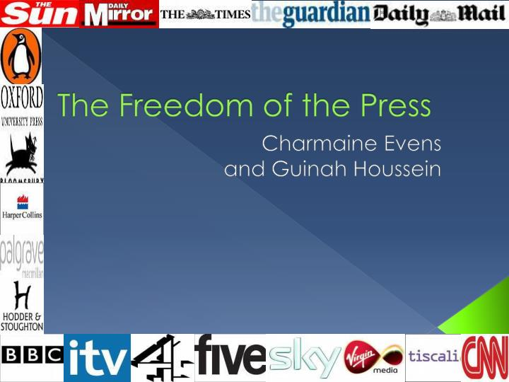 the freedom of the press n.