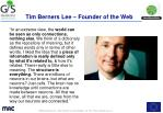 tim berners lee founder of the web