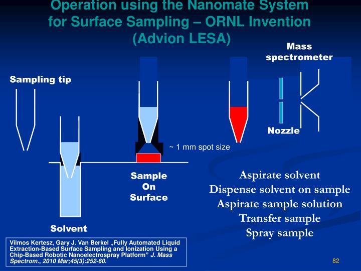 Operation using the Nano
