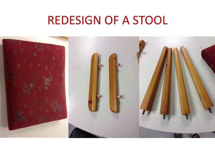 redesign of a stool n.