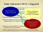 dalle indicazioni 2012 i traguardi1