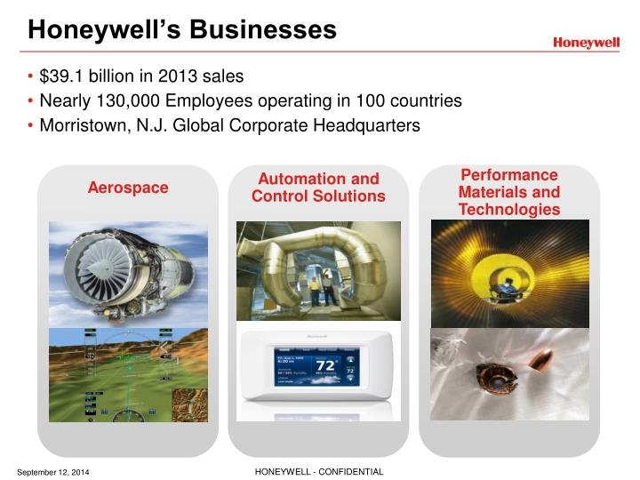 honeywell s businesses n.