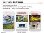 honeywell s businesses