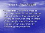 step 6 procedure