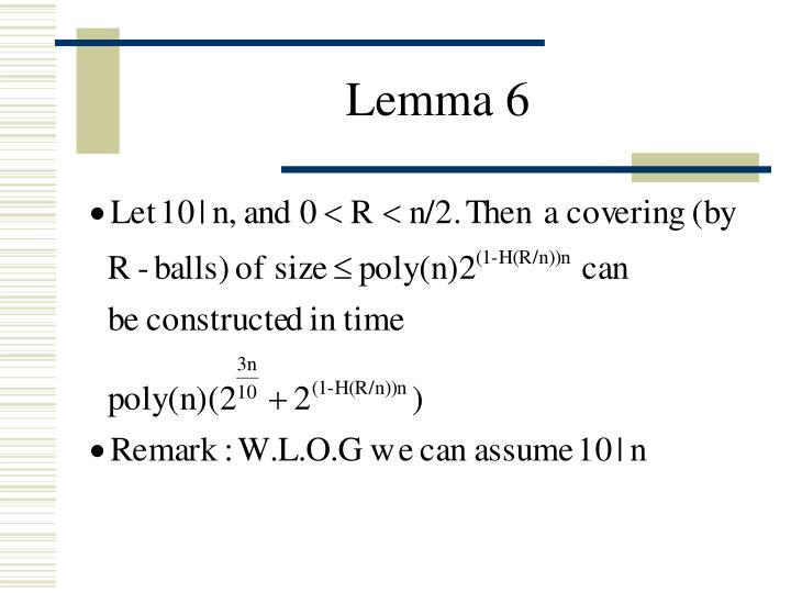 Lemma 6
