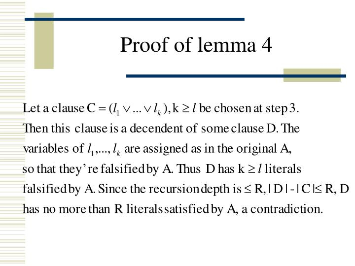 Proof of lemma 4