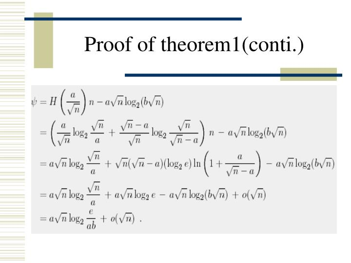 Proof of theorem1(conti.)