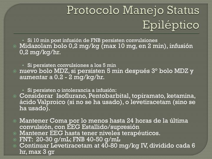 Protocolo Manejo