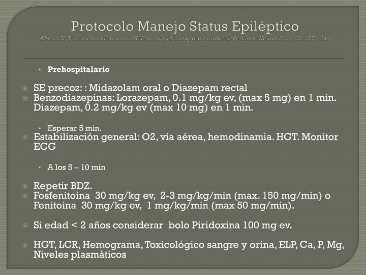 Protocolo Manejo Status Epiléptico