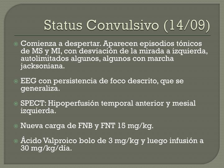 Status Convulsivo (14/09)