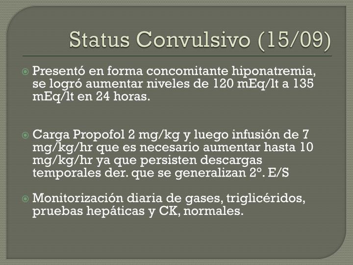 Status Convulsivo (15/09)