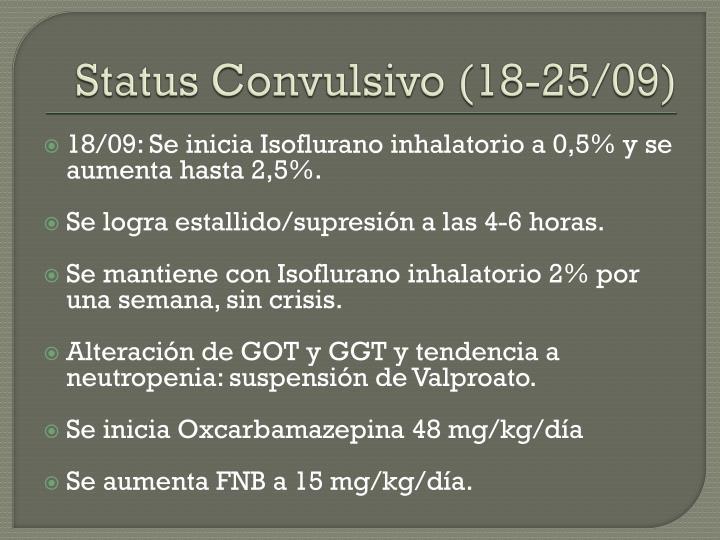 Status Convulsivo (18-25/09)