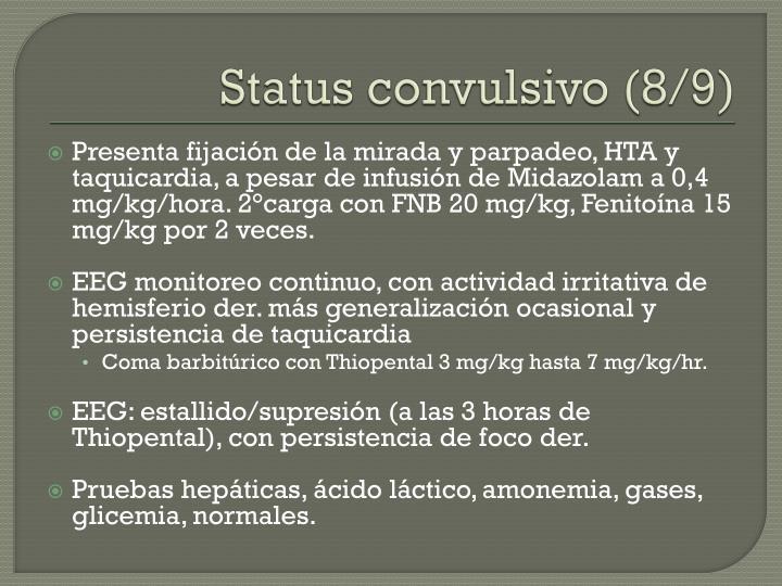 Status convulsivo (8/9)