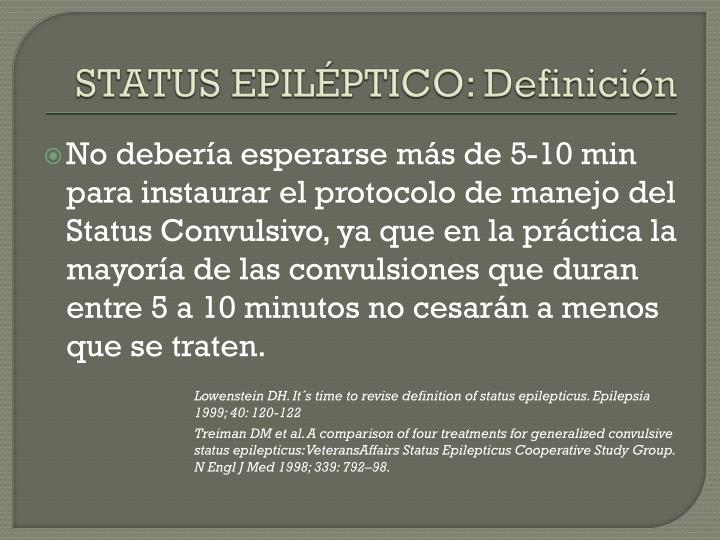 STATUS EPILÉPTICO: Definición