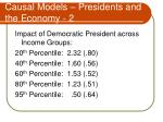 causal models presidents and the economy 2