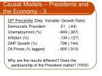 causal models presidents and the economy 3