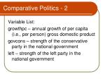 comparative politics 2